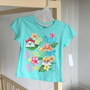 New Paw Patrol Toddler Girl T-Shirt - 3T